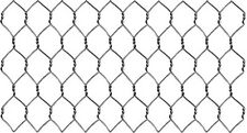 "Galvanized Steel 20 Ga. Chicken Poultry Wire Fence  24"" x 150' x 1"" Hex Mesh"