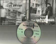 CYNDI LAUPER That's What I Think w/ LIVE & REMIX & EDIT PROMO DJ CD single 1993