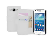 Wallet WHITE Leather Case Cover for Samsung Galaxy Core Plus SM-G350 / G3502