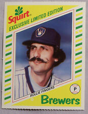 1982 Squirt Rollie Fingers Brewers Baseball Card Lot of 2