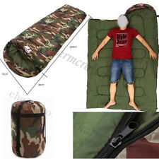 UK Outdoor Winter Camo Waterproof Camping Suit Case Envelope Adult Sleeping Bag
