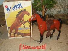 BIG JIM - Karl May - Pferd - TEMPEST + OVP ! Barbie - Horse+ box /  Mattel 7384