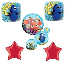 Disney Finding Nemo Dory Crush Birthday Party 5pc Foil Mylar Bouquet Balloons
