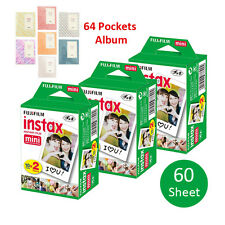 60 Prints Fujifilm Instax Mini Instant Film For Fuji 8 25 7S 50 90 SP-1 + Album