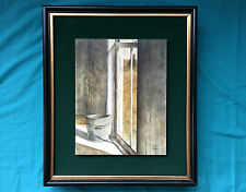 Robert H Blair Painting Sunny Side Oil On Board Original Signed American MCM