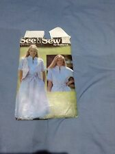 Women's Dress and Belt Vintage Sewing Pattern Size 10 See & Sew