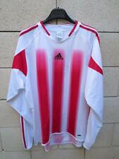 Maillot ADIDAS couleur AS CANNES blanc rouge rayure shirt trikot XL