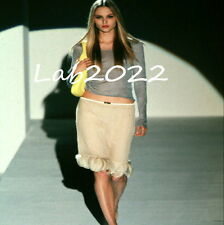 Gucci Tom Ford New Runway 1999 Chiffon Feather Skirt