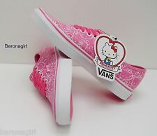 Vans Womens Hello Kitty Authentic Pink True White VN-0QERL8T Size: 10.5