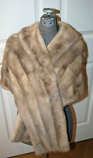 Vintage Genuine Real Fur 1960's MINK Womens Stole Cape Bolero Wrap Brucewood