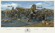 Art Print Depicting Dick Winters & Autographed by 101st, 82nd, and C-47 veterans