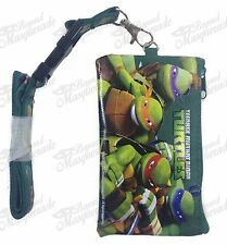 Ninja Turtle TMNT ID Holder Lanyards Detachable Coin Purse - Green