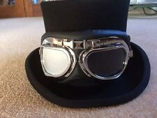 STEAMPUNK/COSPLAY AVIATOR SILVER GOGGLES