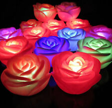 NEW 7 Colorful Rose Night Light LED Wedding Valentines Day Christmas Gifts