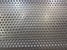 """20 GA. 304 STAINLESS STEEL PERFORATED SHEET 1/4""""HOLES ON 3/8"""" CENTERS  24"""" X 24"""""""