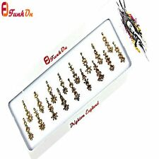 17 PIECES GOLD FANCY-BRIDAL-BINDI-SELF ADHESIVE* DIAMANTE WEDDING TIKKA GEM