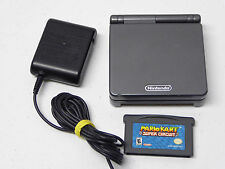 Nintendo Game Boy Advance SP Graphite System & Mario Kart Bundle AGS-101