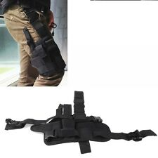 Adjustable Hunting Army Tactical Puttee Thigh Leg Pistol Gun Holster Pouch Black