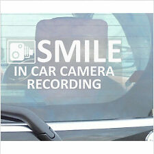 Vehicle In Car Camera Recording Sticker-Smile CCTV Sign-Van,Lorry,Truck,Taxi,Bus