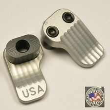 Extended Magazine Release Oversized Large Tactical Mag Button 556/223/308 Silver