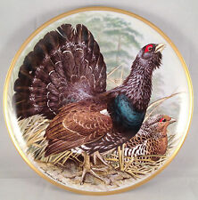 Sammelteller Franklin 1979 Gamebirds of the World Capercaillie Auerhahn