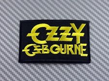 Embroidered Patch Iron Sew Logo Emblem music rock punk band OZZY OSBOURNE