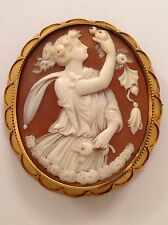 Superb Finest Antique Victorian 15ct Gold Mounted Carved Shell Cameo Brooch