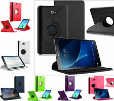 360 Rotation Flip PU Leather Smart Stand Case Cover For Samsung Galaxy Tablets