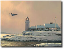 """Afternoon Departure at Stoney Point Light"" by William Phillips Giclee on Canvas"