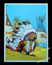 YAKARI le campement d'indiens AFFICHE chambre d'enfant décoration dessins animés