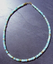 PERUVIAN OPAL NECKLACE  18 inch    Sterling Silver/ 24K Gold Vermeil