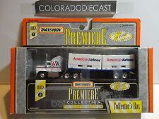 Matchbox Premeire American Airlines Ford Aeromax Container Trailer Semi Rig