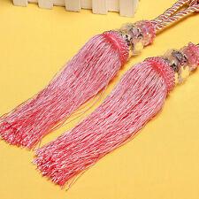 Luxury Crystal Bead Diamond Curtain Rope Tie Back Silk Tassel Holdbacks JB