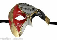 Men's Jester Joker Phantom of the Opera Venetian Masquerade Mask Prom Wedding