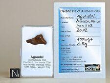 Meteorite AGOUDAL nice complete Individual in display box + certificate