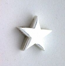 3/5 Inch STAR Pure REAL.925 SOLID Sterling Silver Bead Focal Pendant Charm