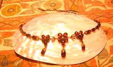 Antik Jugendstil um 1900 Granat Perlen Collier Kette Antique Garnet Necklace RAR