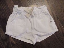 NEW W TAG ZARA BABY GIRL COLLECTION SZ 3/6 MONTHS WHITE GOLD GLITTER BOW SHORTS
