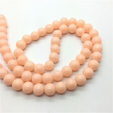 20Pcs 10mm Jade Color Glass Pearl Round Spacer Loose Beads Jewelry Making #10M33