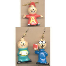 Funky ALVIN CHIPMUNKS Cartoon Movie Charms Costume Jewelry-Earrings Necklace SET