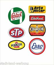 Set STP Aufkleber Sticker Gasoline Pennzoil Champion Oldtimer Youngtimer Retro