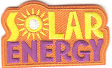 """""""SOLAR ENERGY"""" PATCH -Iron On Applique Patch/Learning, Research, Scientific"""