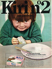 PUBLICITE ADVERTISING  1969    KIRI N°2   fromage  au jambon              101213