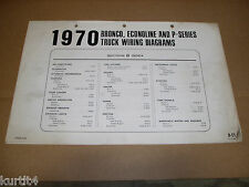 1970 Ford Bronco Econoline Van P-series wiring diagram SHEET service manual
