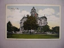VINTAGE POSTCARD OF THE COURT HOUSE IN SIDNEY, OHIO 1917