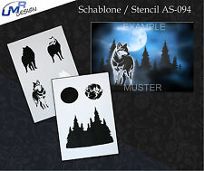 Step by Step Airbrush Stencil AS-094 M ~ Template ~ UMR-Design