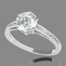 0.85 CT New Round Cut Diamond Engagement Ring 14K White Gold H/I1
