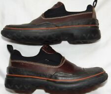Womens Black & Brown CLARKS WATERPROOF Yard Work Duck Shoes Sz 5
