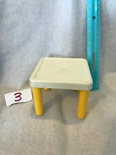 Little Tikes Vintage Dollhouse Yellow And White Table