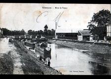 VIERZON (18) PENICHE & PECHEURS à la ligne , MINES de BLANZY Franchise Militaire